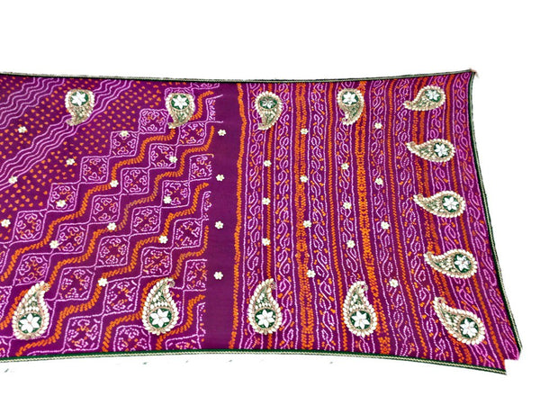 All Over Pink Sheded Color Fancy Design Pure Crepe Bandhani Saree - KalaSanskruti Retail Private Limited