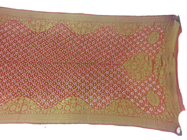 All Over Orange Color Fancy Design Art Silk Bandhani Dupatta - KalaSanskruti Retail Private Limited