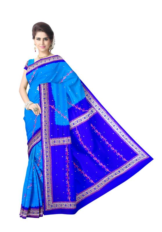 Aabhla And Thread Work Design Gaji Silk Bandhani Saree - KalaSanskruti Retail Private Limited