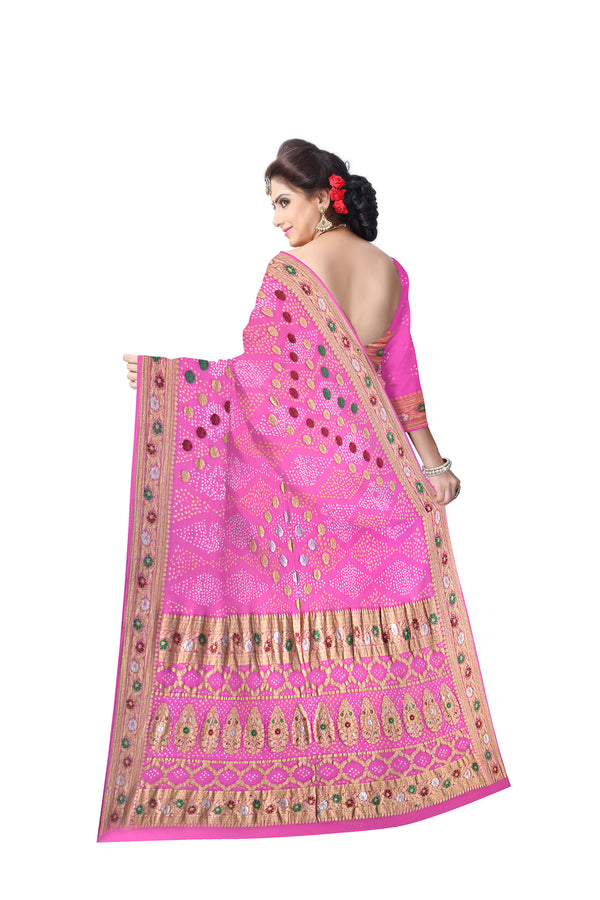 All Over Pink Color Fancy Design Banarasi Georgette Saree - KalaSanskruti Retail Private Limited