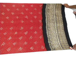 Red And Black Color Fancy Design Gaji Silk Bandhani Dupatta - KalaSanskruti Retail Private Limited