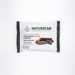 Sachet de Cookie au CBD | Saveur chocolat orange | Garanti sans THC | Naturecan