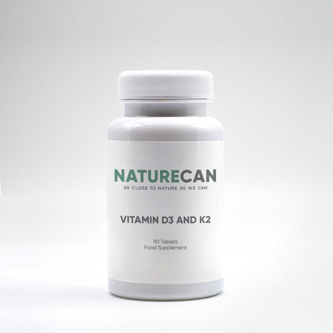 Pot de Vitamines D3 et K2 de Haute Qualité | Naturecan