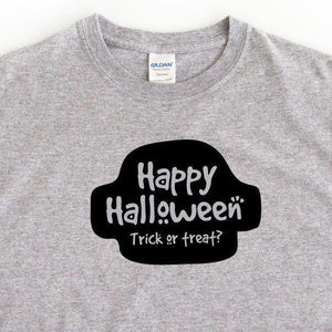 Happy Halloween Ladies Grey T-Shirt - Quote My Gift