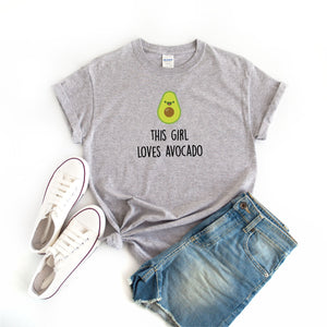 This Girl Loves Avocado Grey T-Shirt - Quote My Gift