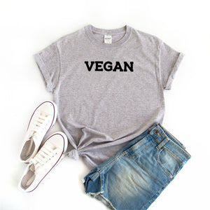 Vegan Women's Grey T Shirt - Quote My Gift