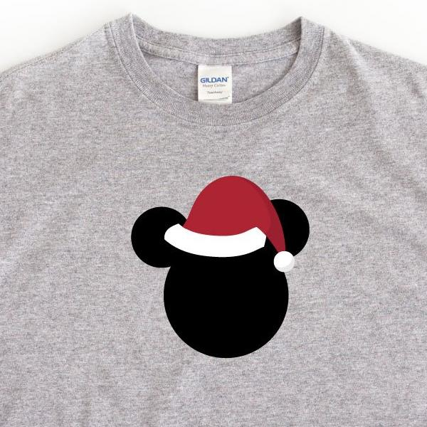 Disney Christmas Hat Women's T-Shirt Grey - Quote My Gift