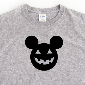 Disney Halloween Pumpkin T-Shirt - Grey - Quote My Gift