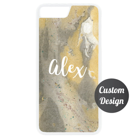 Custom Name iPhone 7/8 Marble Case - Quote My Gift
