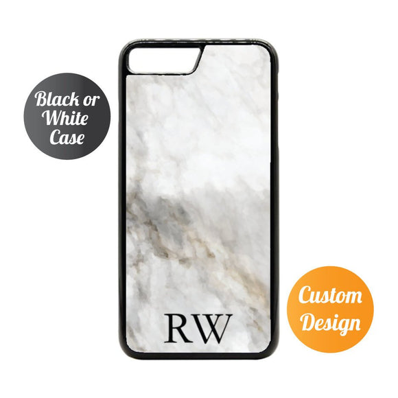 Custom Initials Marble iPhone 7/8 Case - Quote My Gift