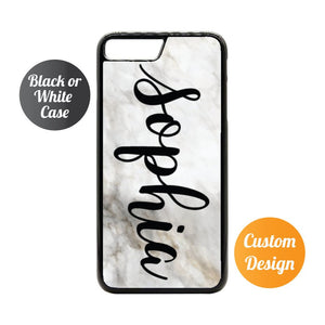 Personalised Name iPhone 7/8 Marble Case - Quote My Gift