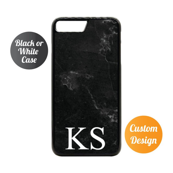Black Marble Custom Name iPhone 7/8 Case - Quote My Gift