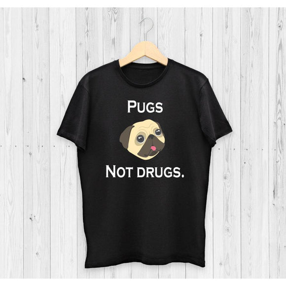Pugs No Drugs Funny Men's T-Shirt - Quote My Gift