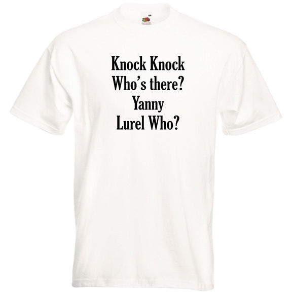Yanny Or Laurel Men's Funny White T-Shirt - Quote My Gift
