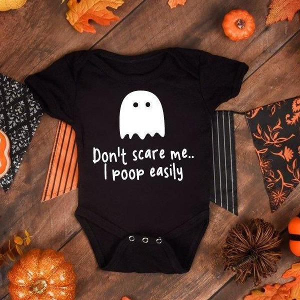 Funny Baby Grow Halloween - Black - Quote My Gift
