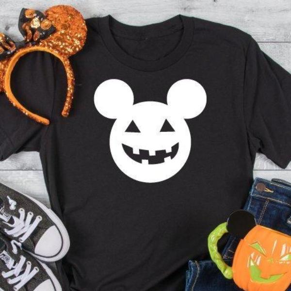 Disney Womens Halloween T Shirt - Black - Quote My Gift