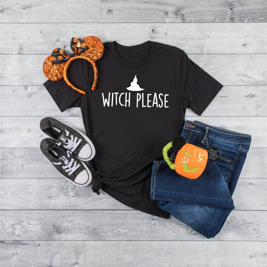 Witch Please Women's T-Shirt Black - Quote My Gift