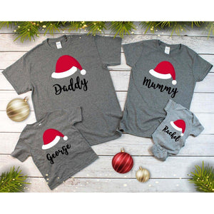 Family Christmas Custom T-Shirts Grey - Quote My Gift