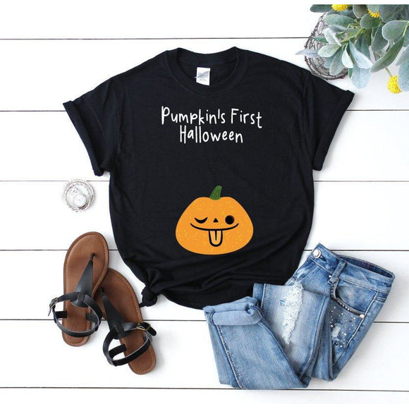 Pregnancy Halloween T-Shirt Black - Quote My Gift