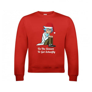 Rick And Morty Men's Christmas Jumper - Red - Quote My Gift