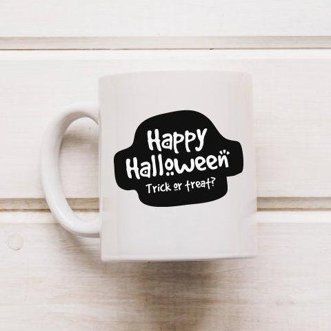 Trick Or Treat Halloween Mug - Quote My Gift