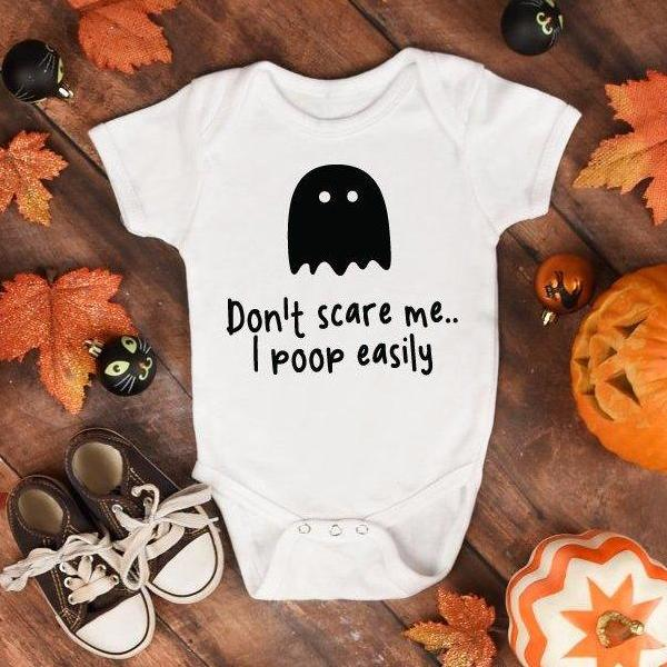 I Poop Easily Baby Halloween Babysuit - Quote My Gift
