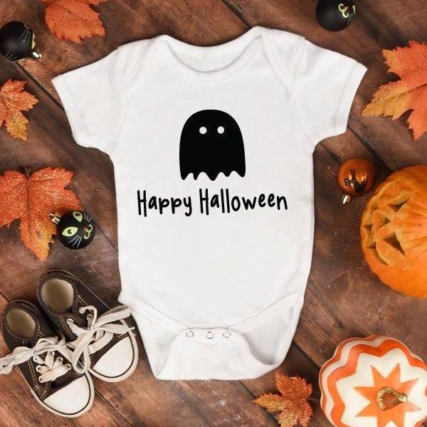 Happy Halloween White Baby Grow - Quote My Gift