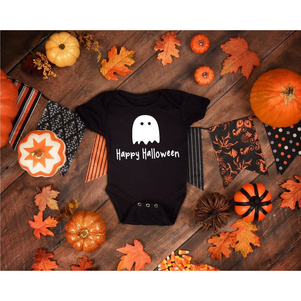 Baby Halloween Babysuit - Black - Quote My Gift