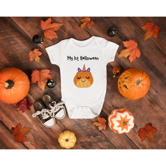 Baby First Halloween Baby Onesie - Quote My Gift
