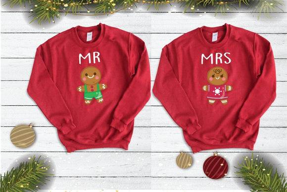 Mr And Mrs Couples Christmas Jumpers - Quote My Gift