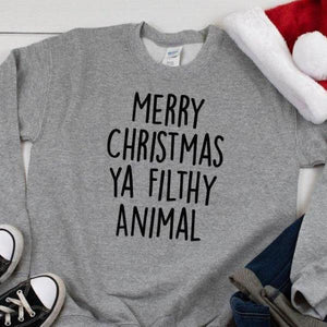Funny Christmas Jumper Women's - Grey - Quote My Gift
