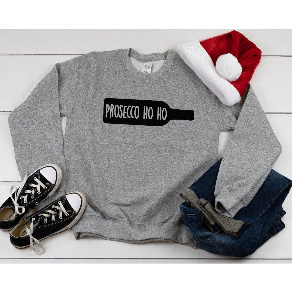 Prosecco Ho Ho Funny Christmas Jumper - Quote My Gift