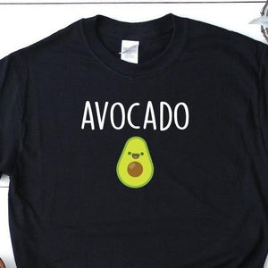 Women's Funny Avocado T-Shirt Black - Quote My Gift