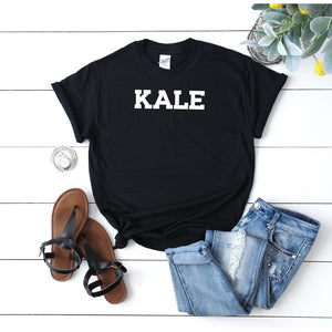 Women's Kale Vegan T-Shirt Black - Quote My Gift