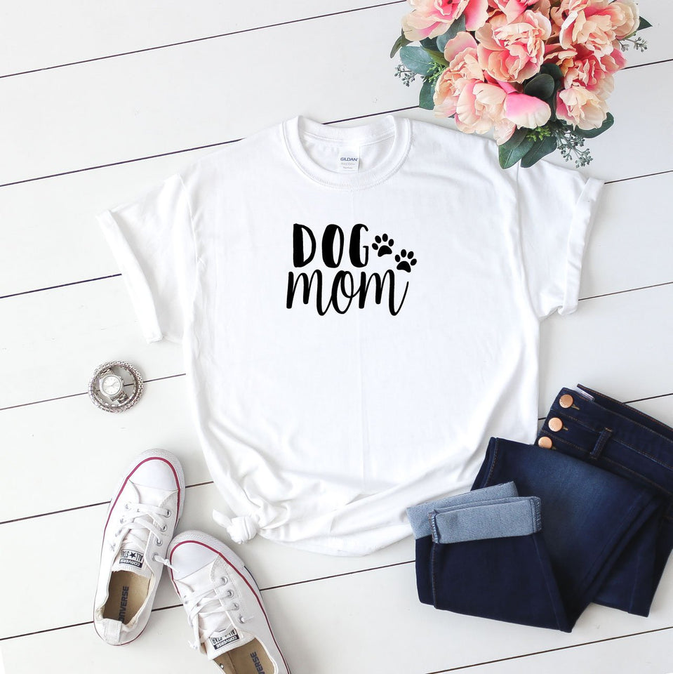 Dog Mom T Shirt Black - Quote My Gift