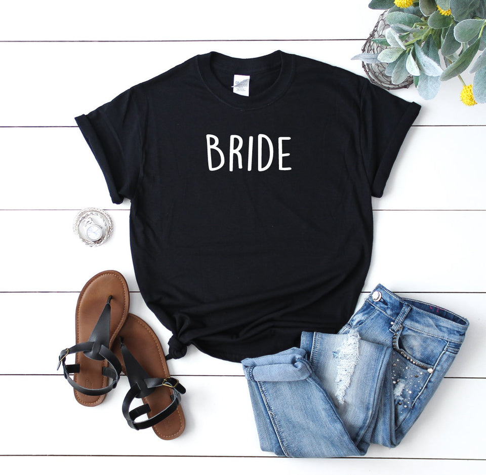 Bride/Bridesmaid Custom Wedding T-Shirts - Quote My Gift