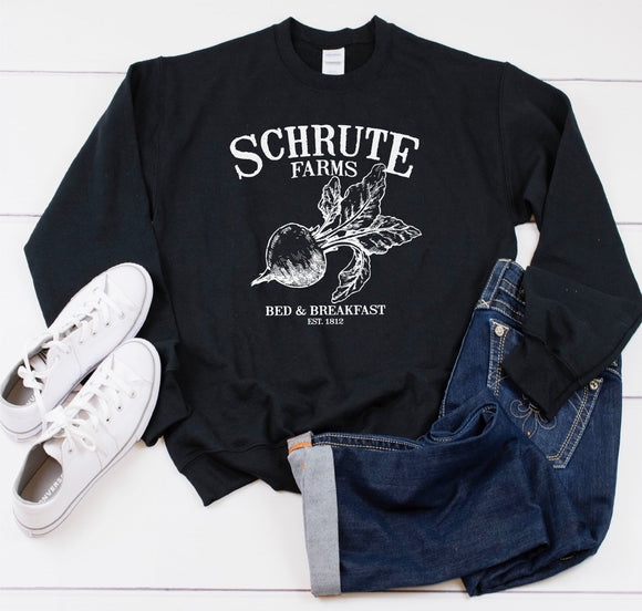 Schrute Farms Sweatshirt - Quote My Gift