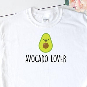 Women's Funny Avocado T-Shirt White - Quote My Gift