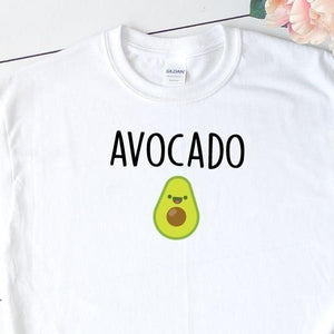 Women's Avocado Shirt White - Quote My Gift