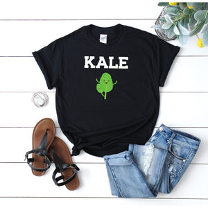 Women's Kale T Shirt Black - Quote My Gift