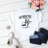 Schrute Farms Women's T-Shirt White - Quote My Gift