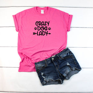 Crazy Dog Lady Women's T-Shirt - Quote My Gift