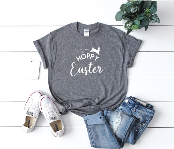 Hoppy Easter Funny Easter Unisex T-Shirt Tee Gift Fashion - Quote My Gift