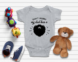 My Dad Has a Beard Funny Baby Onsie - Quote My Gift