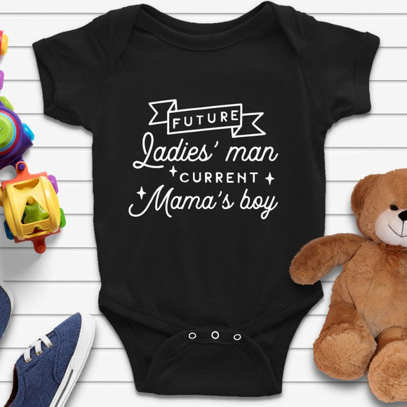 Future Ladies Man Funny Baby Grow Onesie - Quote My Gift