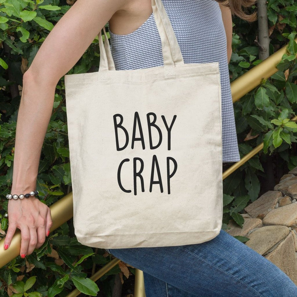 Baby Crap Funny Tote Bag - Quote My Gift