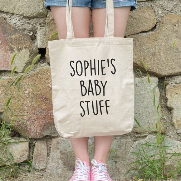 Baby Name Personalised Tote Bag - Quote My Gift