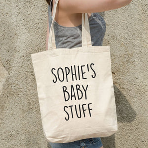 Custom Baby Name Tote Bag - Quote My Gift