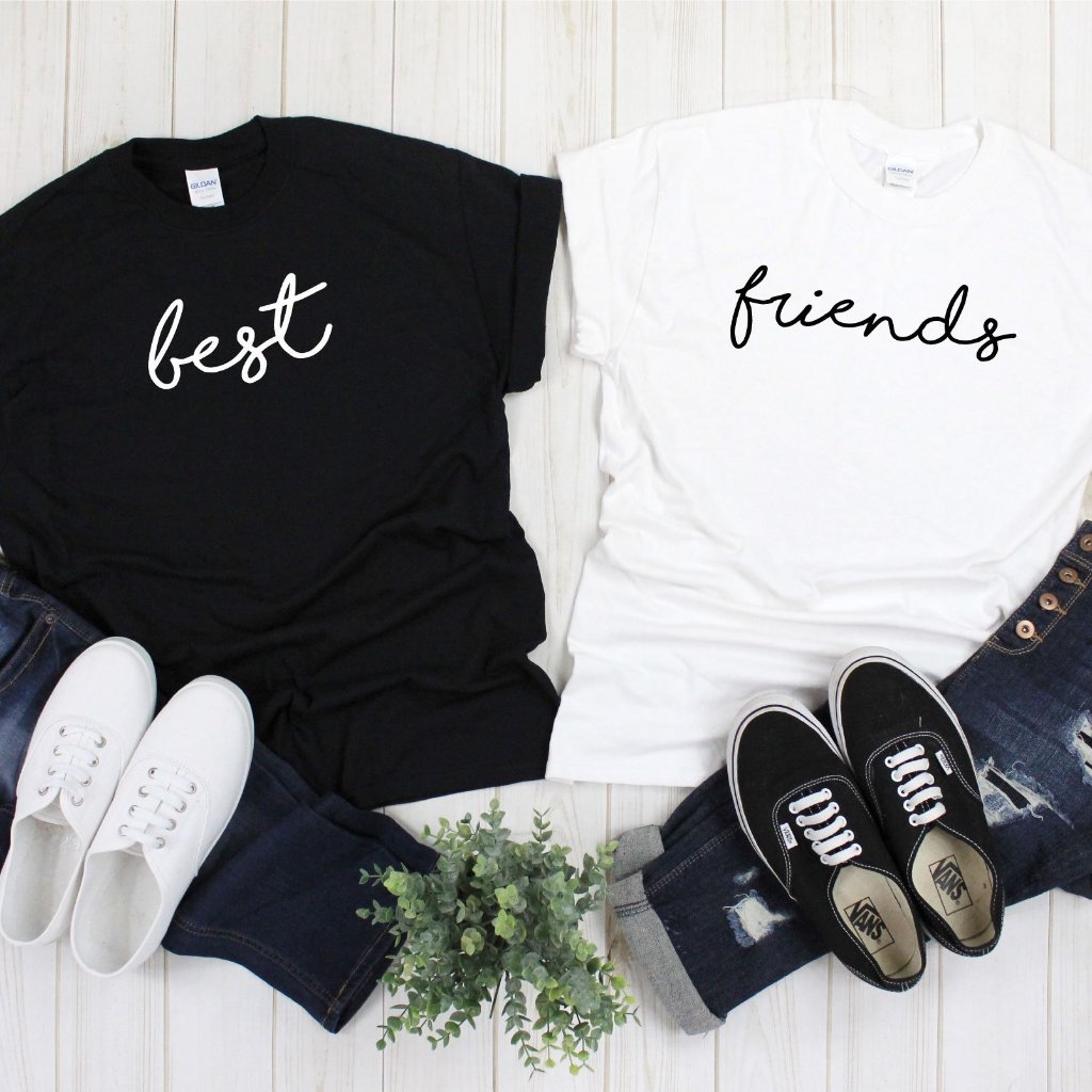 Best Friends Hand Written T-Shirts (2 Pack) - Quote My Gift