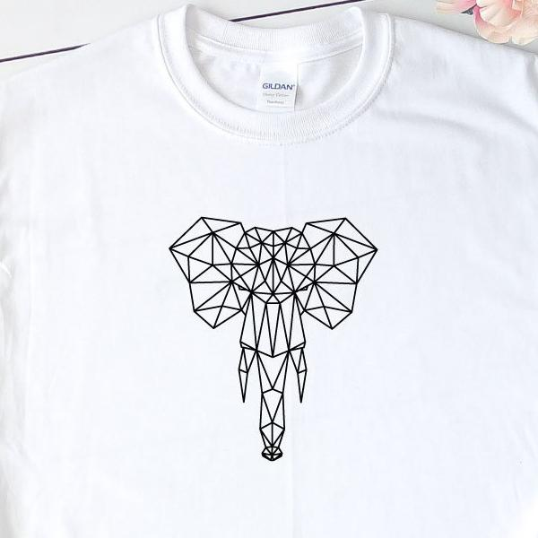 Geometric Elephant T-Shirt - Quote My Gift